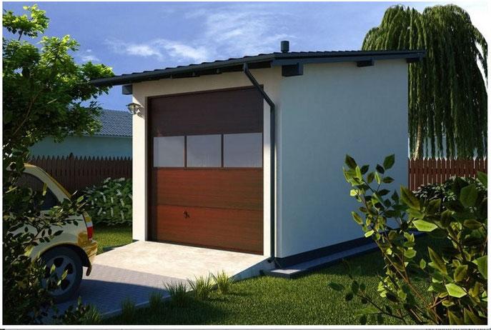 Garage terrasse 23 m2 chalet bois cbi for Garage 40m2