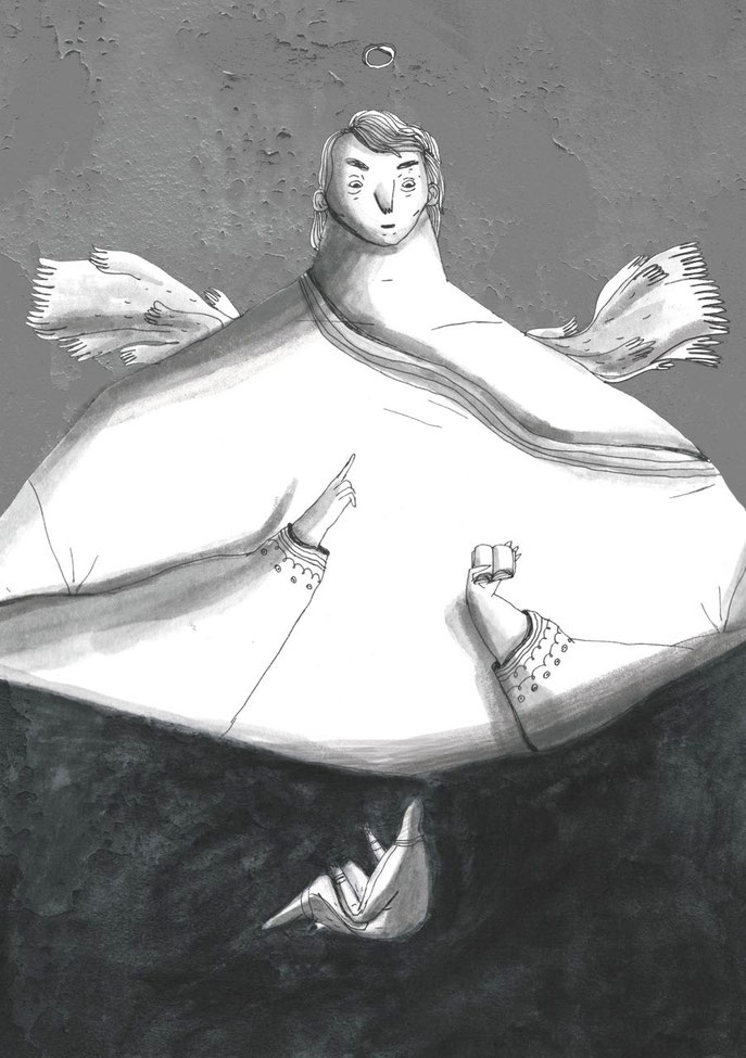 Der Engel erklärt Mohammed den Koran