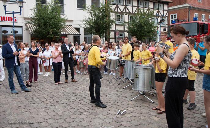 29.07.2019 Parchim Übergabe der Stadtwette - NDR Sommertour 2019