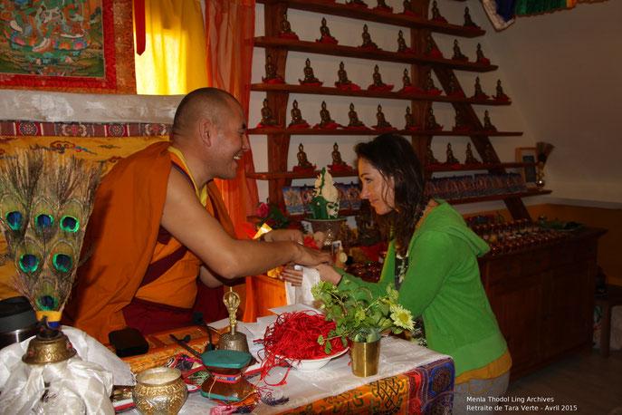 Photo prise lors de la retraite de Tara Verte avec Phakyab Rinpoché au centre Menla Thodol Ling en Normandie