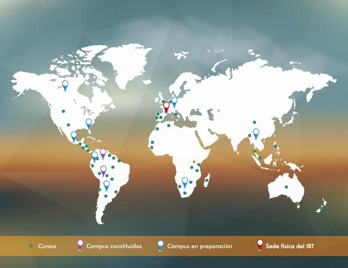 El IBT actúa en 54 países y tiene o proyecta 13 Campus Internacionales de la Biodiversidad
