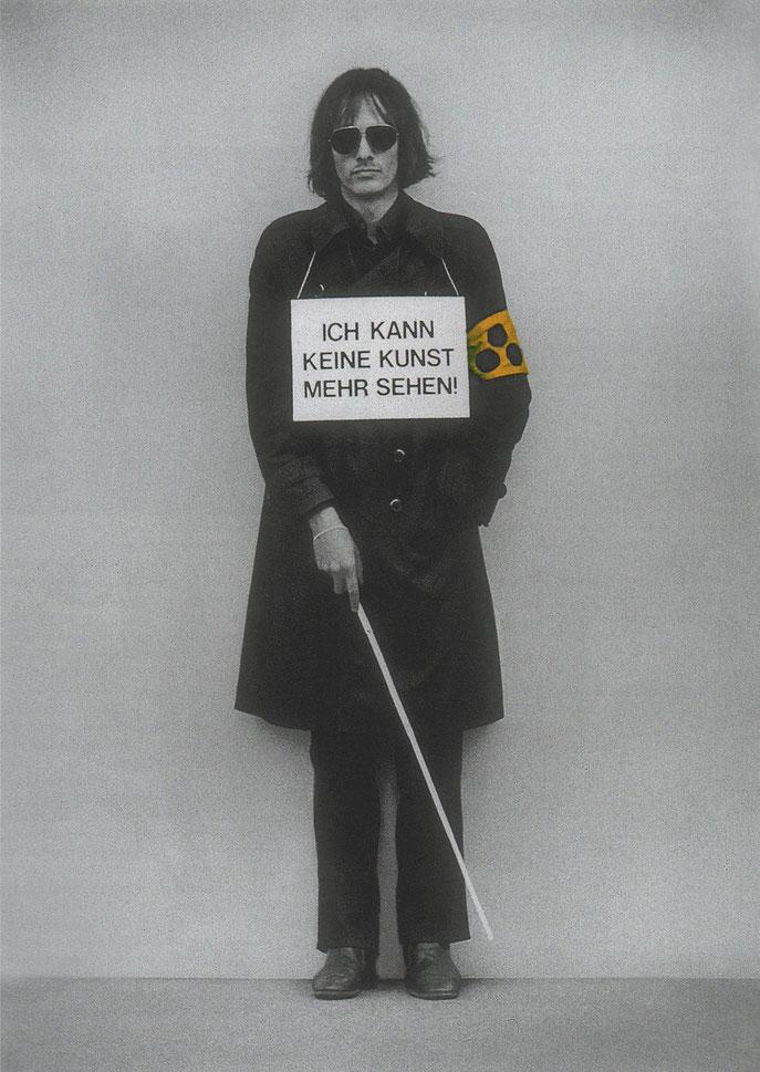 Ich kann keine Kunst mehr sehen ( 1975 )              84,1 x 59,4 cm