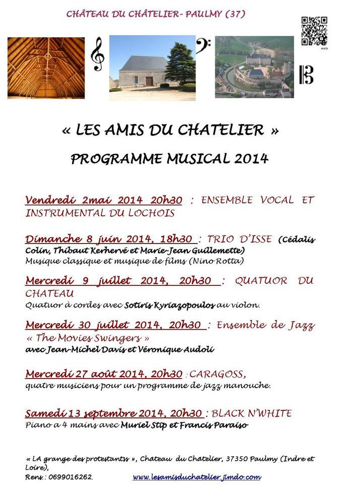 Programme musical 2014