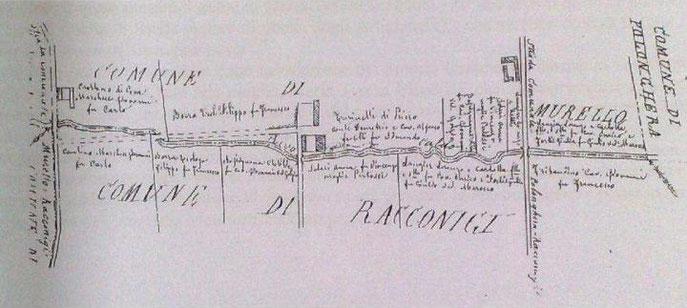Verbale di delimitazione del territorio comunale 29/08/1888 Racconigi