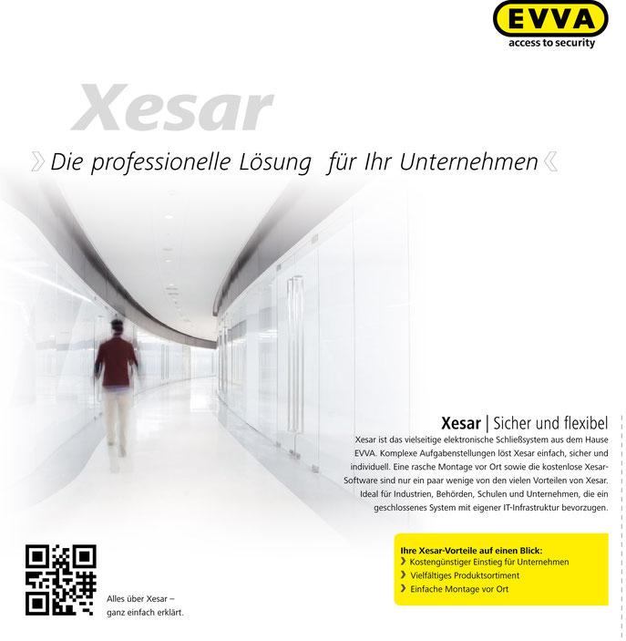 Xesar von Evva, das elektronische Schließsystem wir durch die Firma Kaiserstühler Sicherheitstechnik vertrieben.