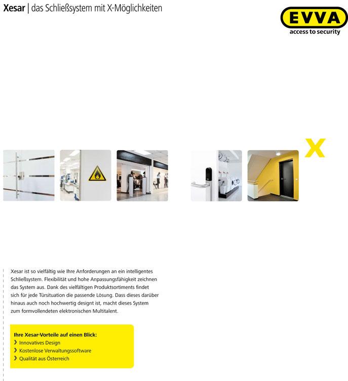 Xesar, elektronische Beschläge, Zylinder und Wandleser.