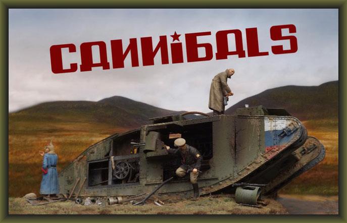 British Mk.V Tank 'Hermaphrodite' Diorama 1:35