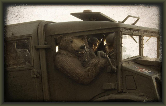 Wojtek the soldier bear, Diorama 1:35