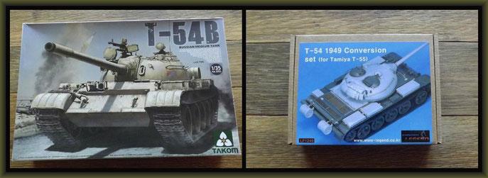 Takom T-54B , Legend T-54 1949 Conversion Set (for Tamiya T-55)