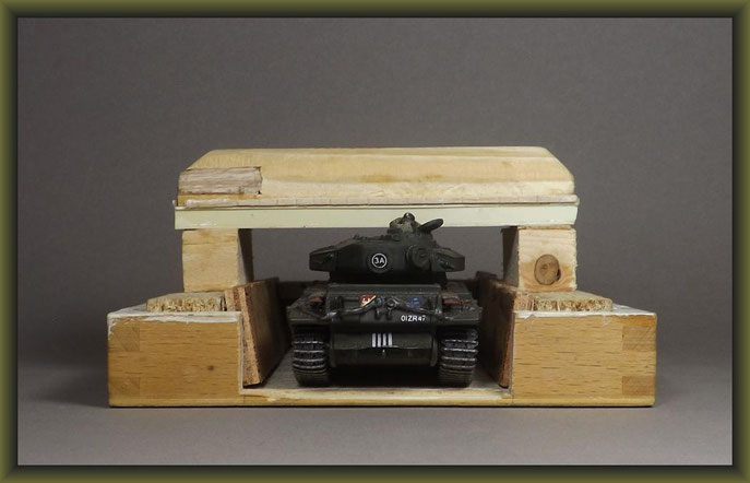 Centurion Mk. III 'Korea' (Elephant House) Diorama 1:72 Building Stages