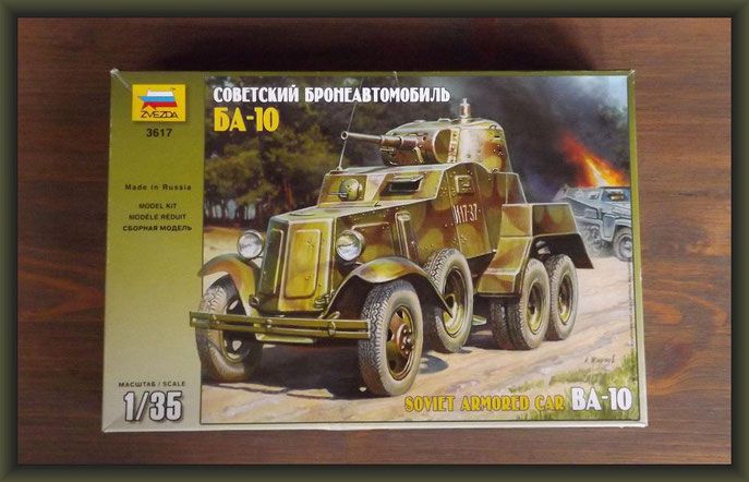 Soviet Armored Car BA-10, Zvezda 3617, Building Report, Diorama 1:35