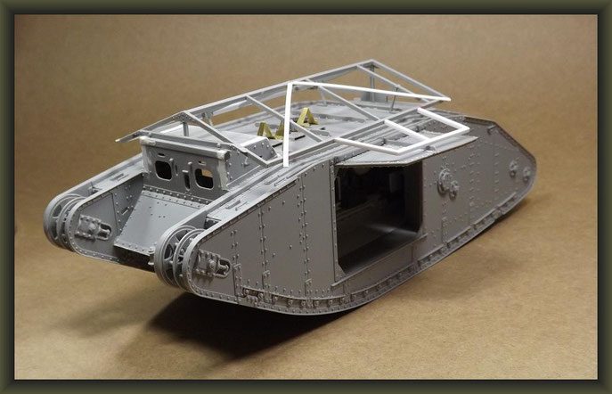 British Mk I 'Male' Tank, Diorama 1/35, Stage 6