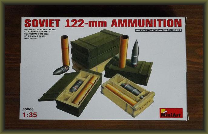 MiniArt No. 35068 Soviet 122-mm Ammunition