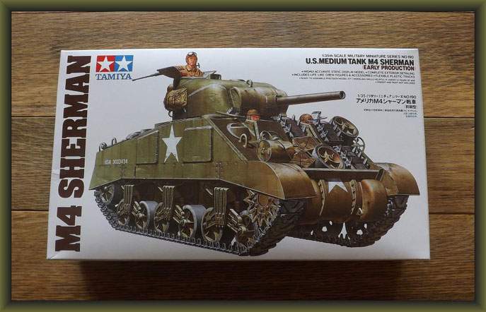 U.S. Medium Tank M4 Sherman (Early Production) Tamiya - Nr. 35190 - 1:35