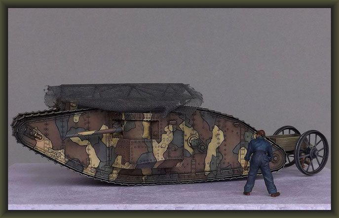 British Mk I 'Male' Tank, Diorama 1/35