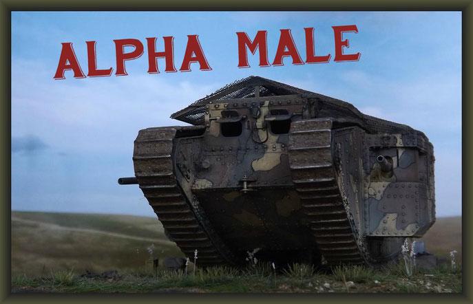 British Mk I Male Tank, Somme Battle 1916, Diorama 1/35