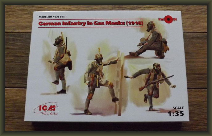 ICM No 35695 German Infantry in Gas Masks (1918) 1/35