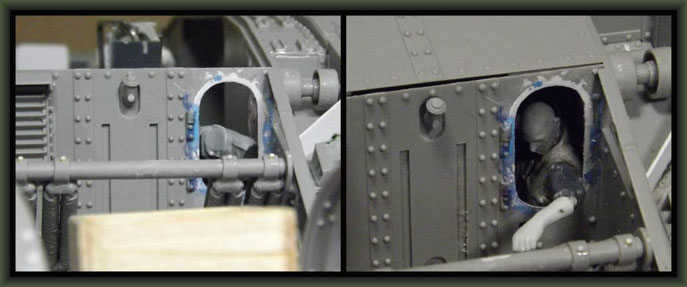 British Mk I 'Male' Tank, Diorama 1/35, Stage 8