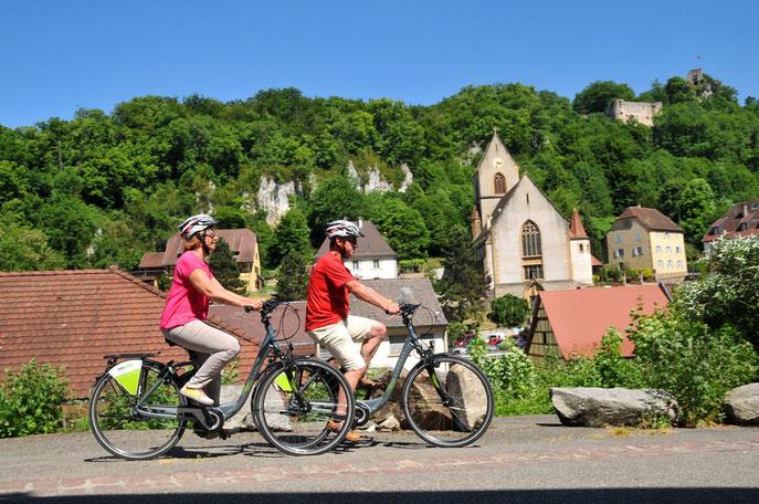 A vélo électrique c'est plus facile...