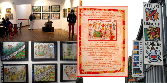 Dessins de René Delrieu exposés à la Galerie de la Halle Saint Pierre (Paris) - Clichés B. Coste