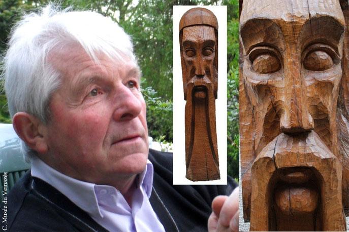 Guy Villeret / Sculpture du Gaulois. Clichés B. Coste