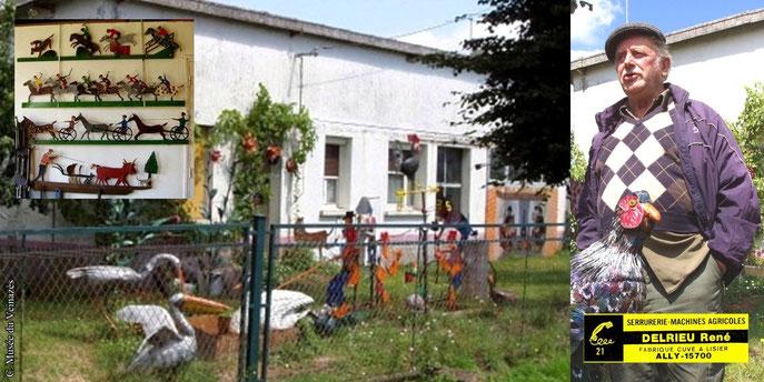 Le jardin singulier de René Delrieu à Ally (Cantal) en 2006. Clichés J.P. Bonhuil