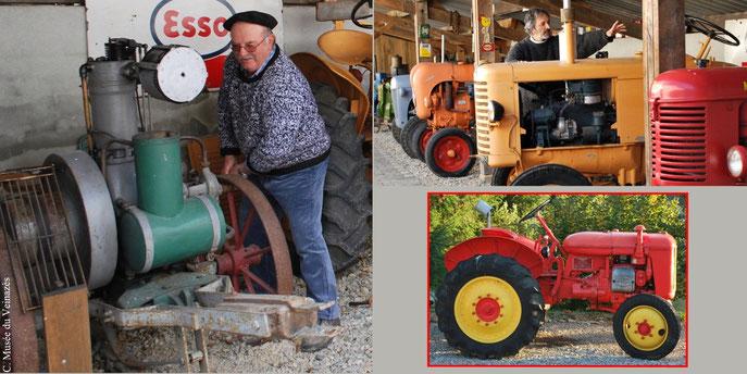 moteur fixe marque Bernard, cantal, collection tracteurs,