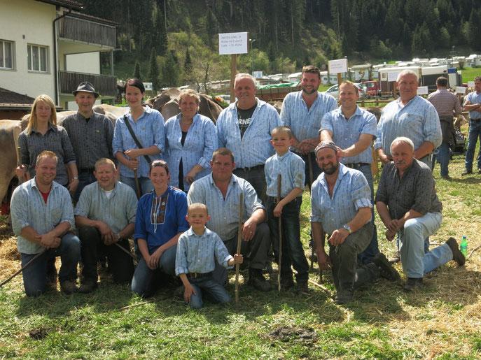 Unsere Freiwilligen Helfer Viehschau Churwalden 2014