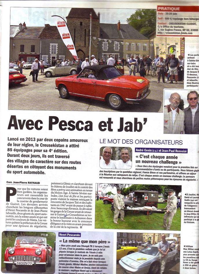 La Vie de l'Auto numéro 1724 daté du 14 juillet 2016.