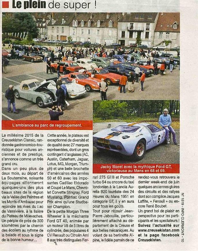 Un coup de projecteur à J-2 mois du départ de la 3e édition du CREUSEKISTAN CLASSIC dans les éditions Auvergne et Limousin d'INFO MAGAZINE...