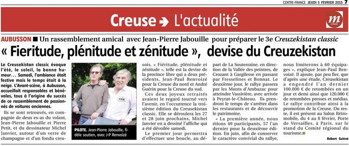 La Montagne édition Centre, jeudi 5 février 2015.