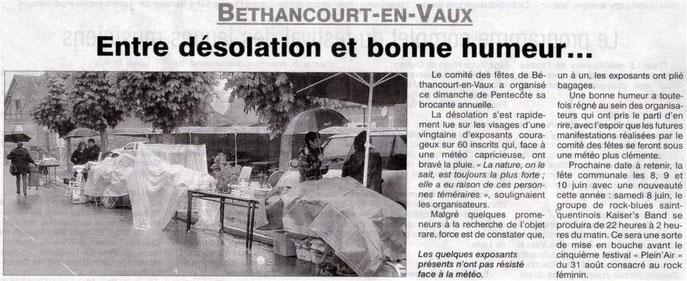 Compte rendue & Photos / l'Aisne Nouvelle & Comité des Fêtes de Béthancourt-en-vaux.