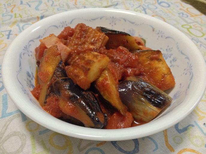 かくふとナスのトマト煮