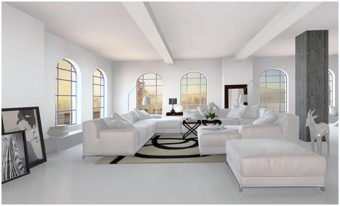 Legestyling, Interieur und Stills