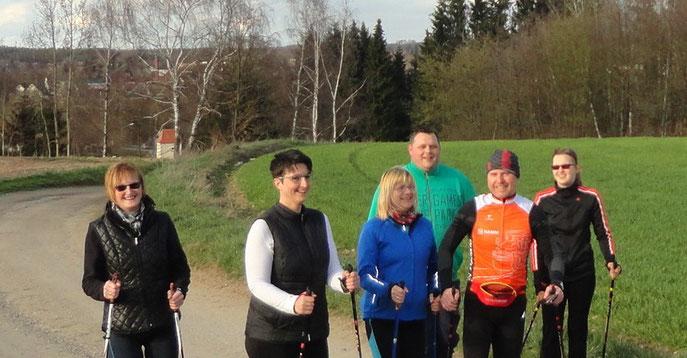 Die Teilnehmer des Kurses am Sägmühlberg