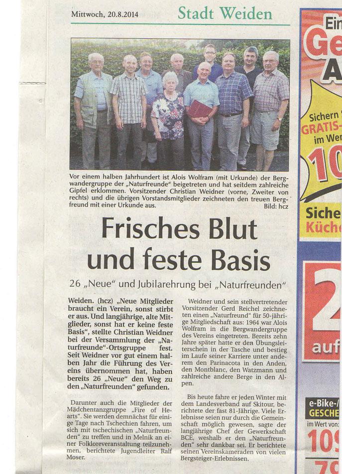 Der Neue Tag (Weiden), Mittwoch, 20. August 2014 Stadt Weiden