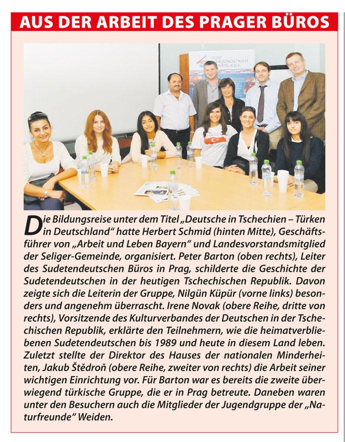 Sudetendeutschen Zeitung aus Prag