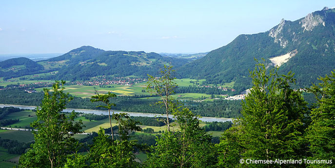 Blick vom Petersberg, Nähe Gasthof Falkenstein Flintsbach