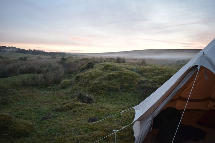 Mist over Dartmoor, Devon, England
