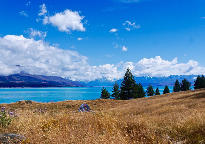 camping South Island, New Zealand