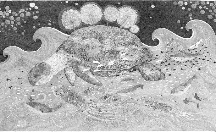 Olivier Marc Thomas Leger, Tortue Geniale, illustration