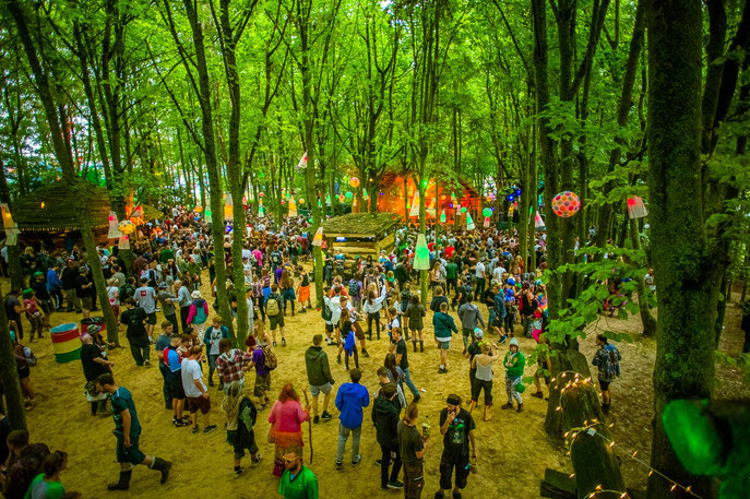Woods, Boomtown festival, England, UK