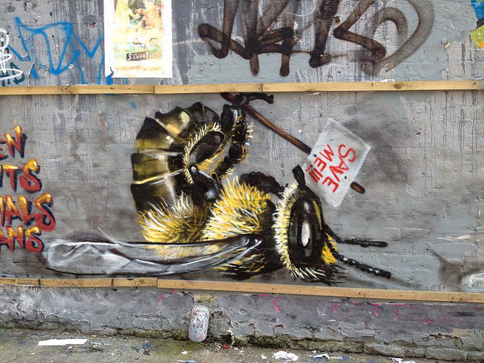 street art, Louis Masai, save the bees