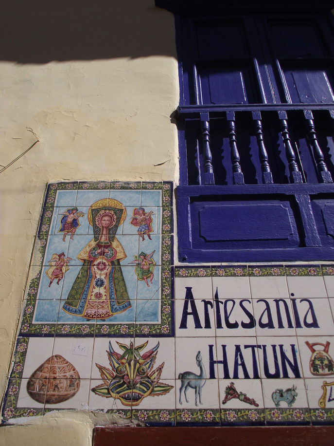 architecture art Cusco Peru painted tiles
