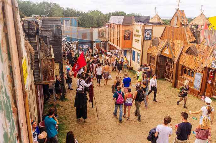 2015: Old Town, Boomtown festival, England, UK