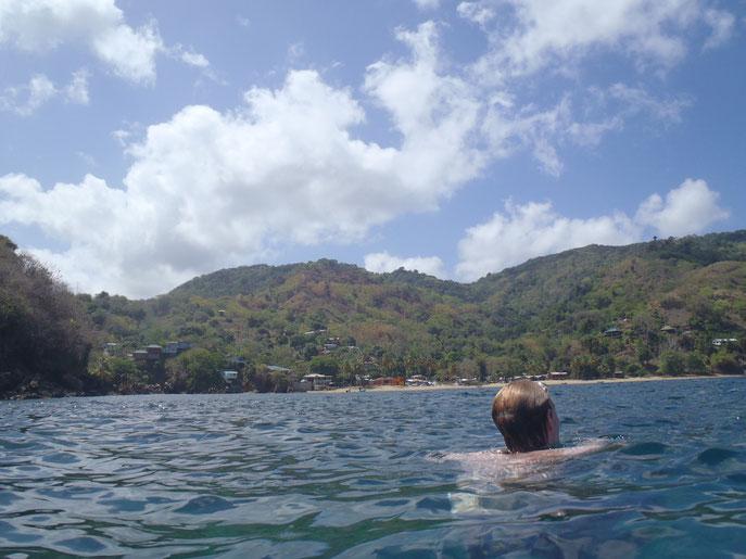 Swimming, Castara, Tobago