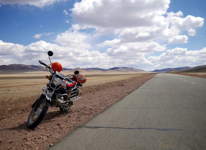Mongolia motorbike