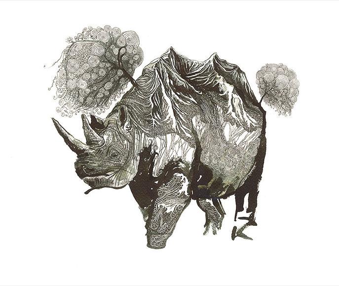 Olivier Marc Thomas Leger, Rhino Mountain Planet, illustration