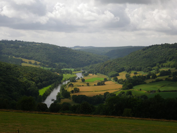 River Wye is a view towards Bigsweir, UK