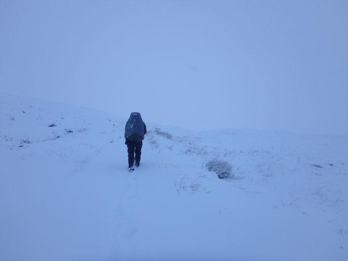Rannoch Moor, West Highland Way, snow in December, hiking in winter
